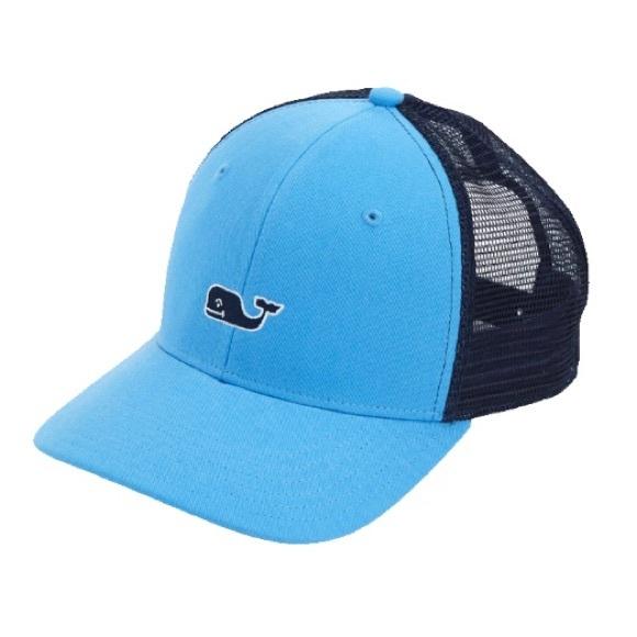 6b8f5f2603d82 Vineyard Vines High Profile Whale Logo Trucker Hat